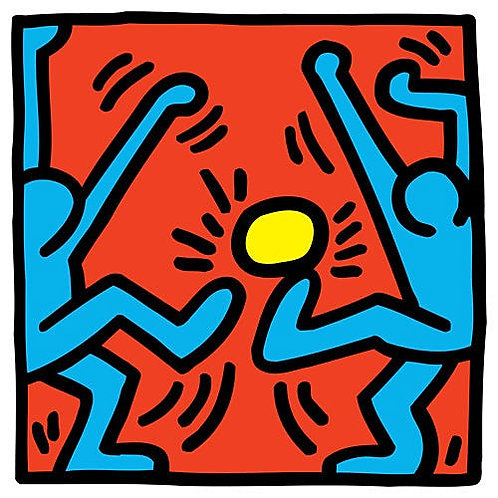 Keith Haring Football Poster