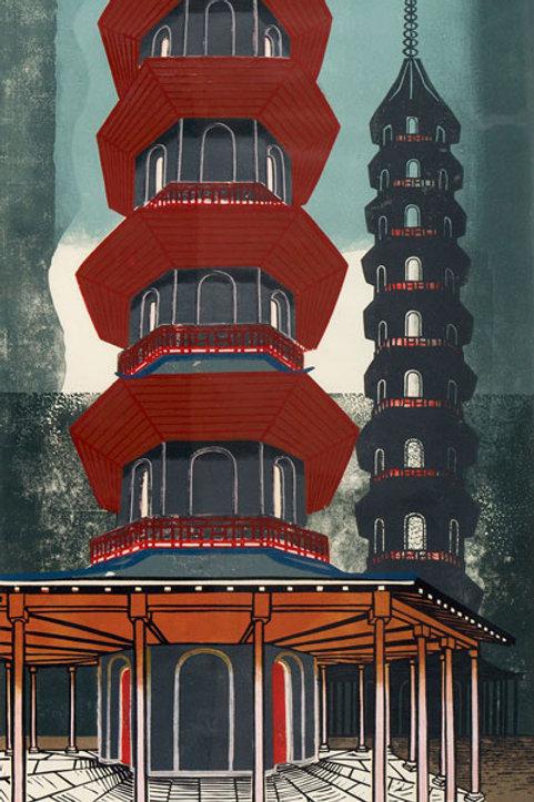 Pagoda At Kew Limited Edition Print by Edward Bawden