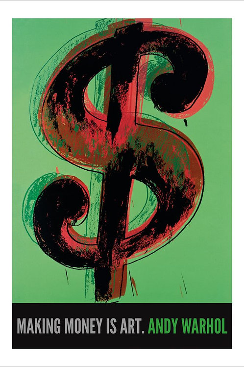 Andy Warhol Dollar Sign Poster