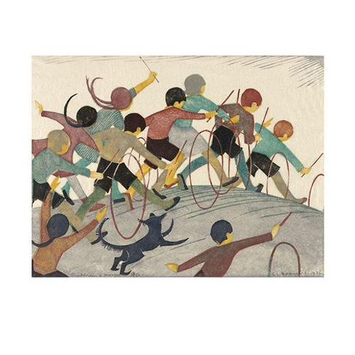 Childrens Hoops Print by Ethel Spowers