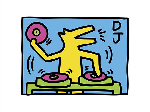 Keith Haring DJ Poster UK