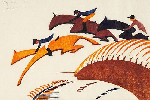 Steeplechasing Print Sybil Andrews