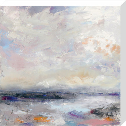 Bright Shore with Lilac Canvas Print