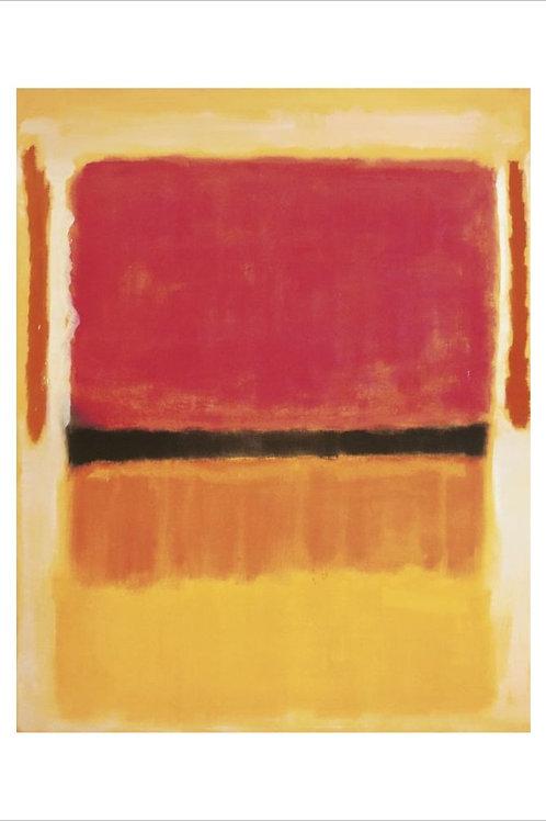 Violet Black Orange Yellow Print Mark Rothko