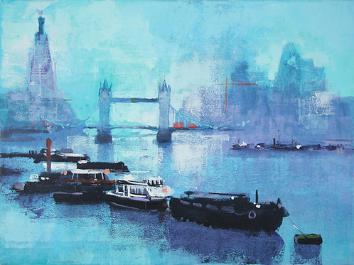 Shard and Tower Bridge Signed Art Print by Colin Ruffell