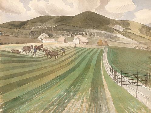Mount Caburn Print Eric Ravilious
