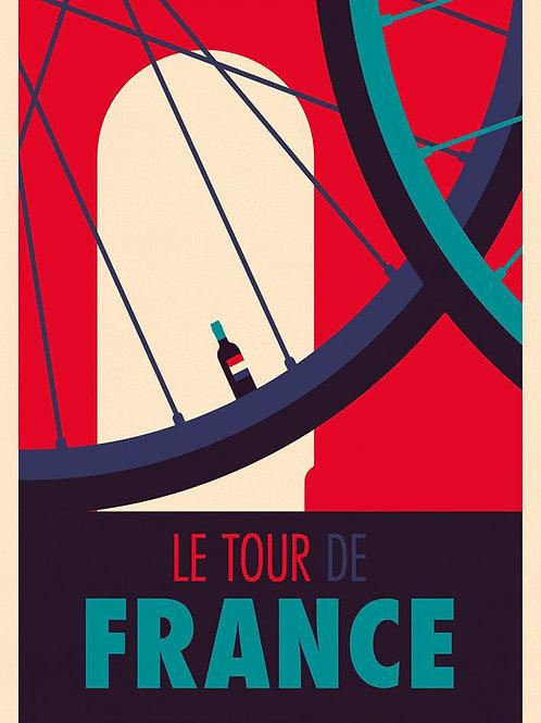 Tour De France Print by Spencer Wilson