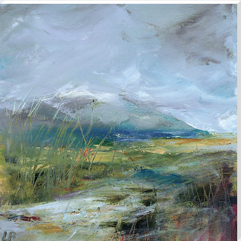Winter Hills Canvas by Lesley Birch
