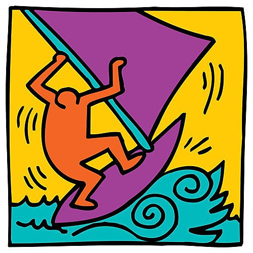 Boat Poster by Keith Haring