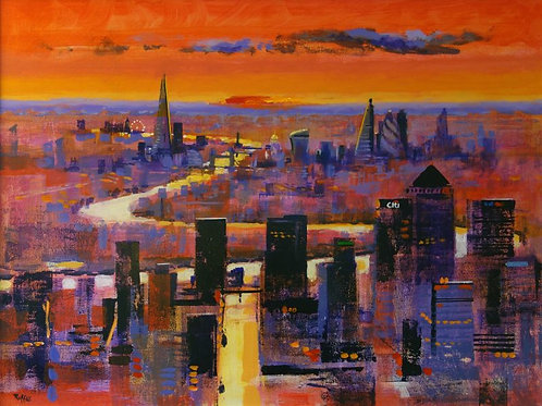 New World London Signed Print by Colin Ruffell