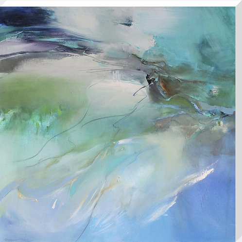 Skydive Canvas by Kathy Ramsay Carr