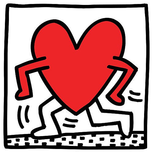 Heart Poster Keith Haring