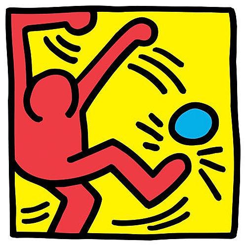 Football Print by Keith Haring