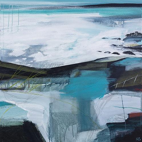 Sea Rocks Print on Canvas by Karen Birchwood