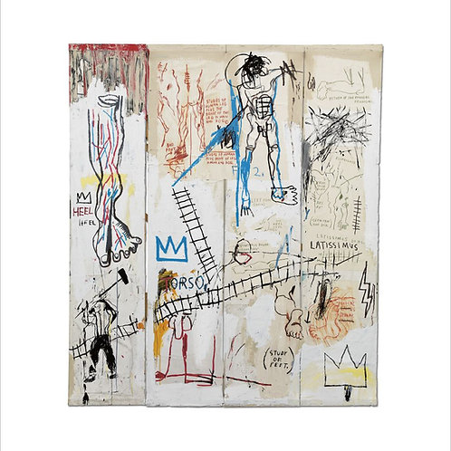 Leonardo da Vinci's Greatest Hits Poster Basquiat