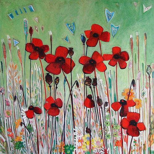 Poppy Canvas Print by Shyama Ruffell