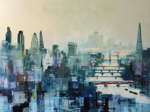 City Titans Signed Art Print by Colin Ruffell