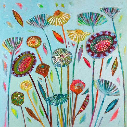 August Fields Print on Canvas by Shyama Ruffell
