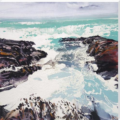 Michael Sole Art Prints - Cornish Rocks