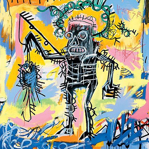 Fishing Poster by Jean-Michel Basquiat