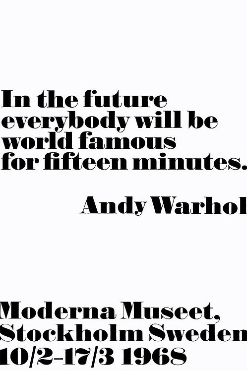 Famous for Fifteen Minutes Art Print Warhol