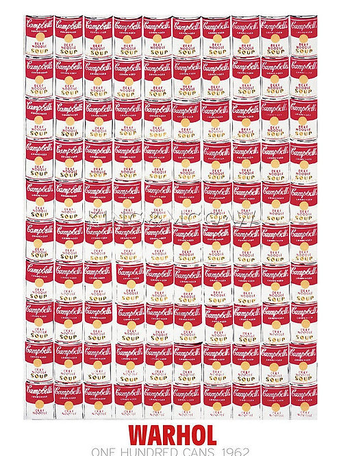 One Hundred Cans Poster by Warhol