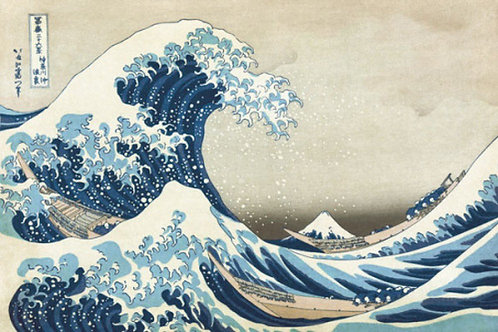 Great Wave at Kanagawa Canvas Print by Hokusai