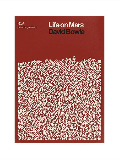 Life on Mars Poster by David Bowie