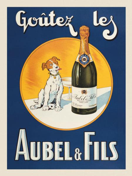 Vicomte de Moulliac Vintage Champagne Poster