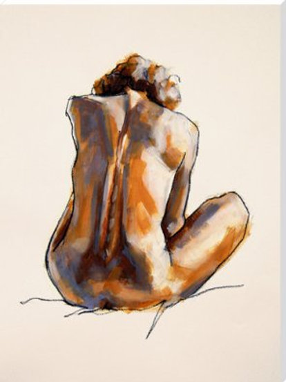 Life Drawing Art Print by Nicola King