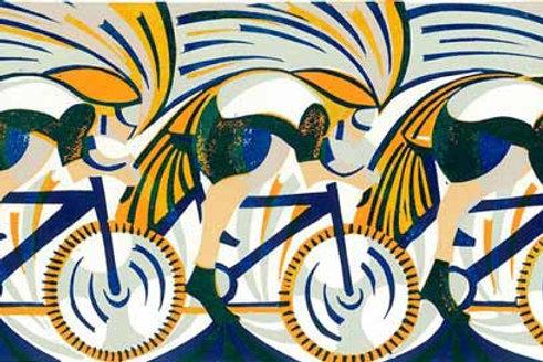 Round Wheels Art Print by Paul Cleden