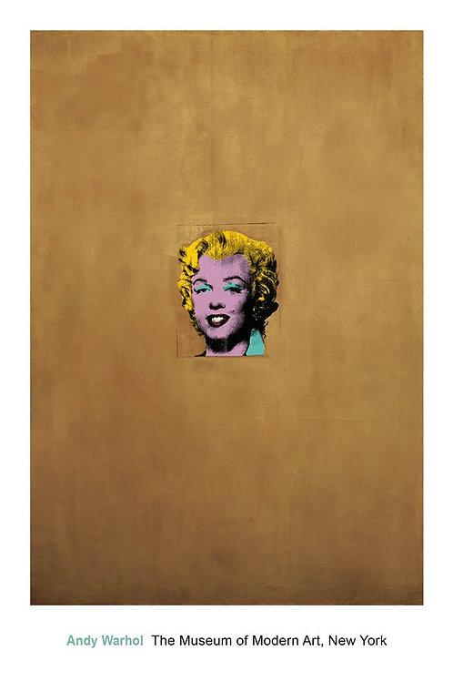Gold Marilyn Monroe Art Print
