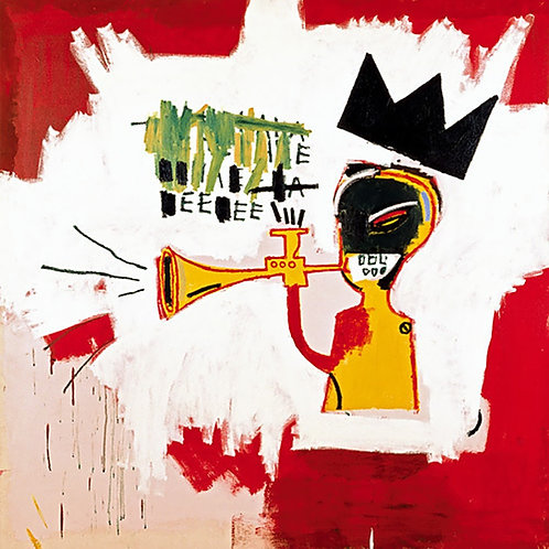 Trumpet Poster by Basquiat