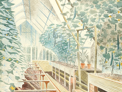 Cucumber House Print by Eric Ravilious
