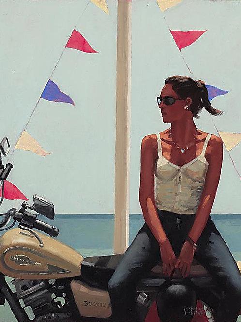 La Fille à la Moto Art Print Vettriano