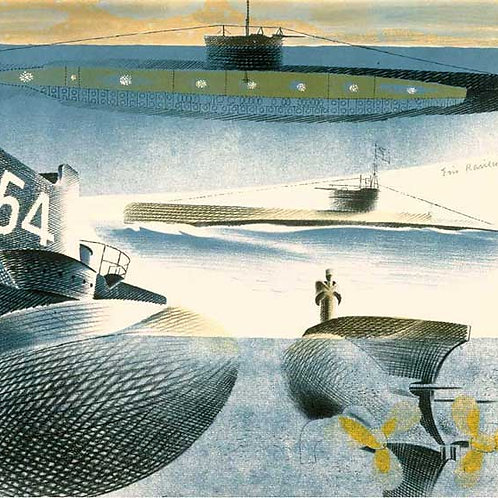 Different Aspects of Submarines Print by Eric Ravilious