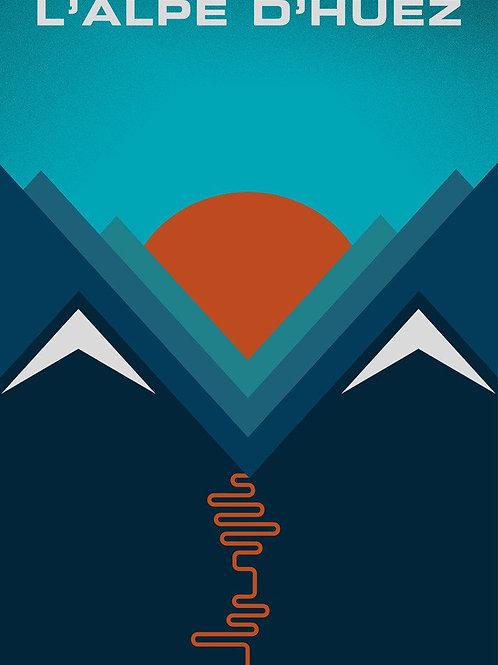 L'Alpe d'Huez Print by Jeremy Harnell