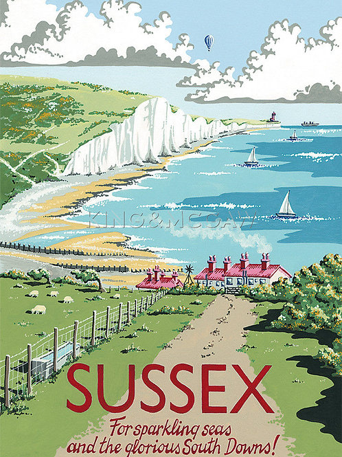 Sussex Print by Kelly Hall