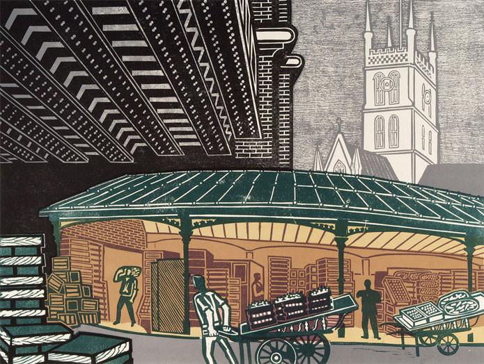 Borough Market Art Print By Edward Bawden