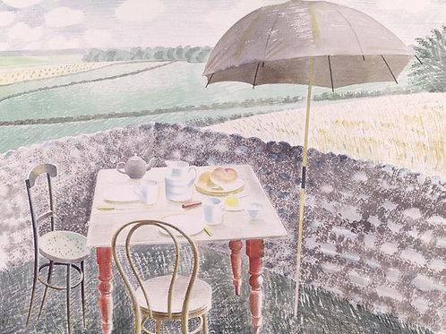 Tea At Furlongs Print by Eric Ravilious