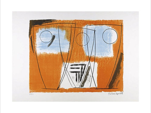 Three Forms Print by Barbara Hepworth