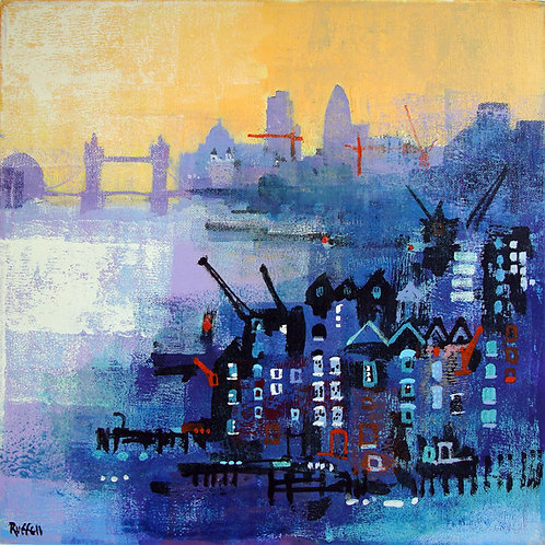 Warehouses and Gherkin Limited Edition Print by Colin Ruffell