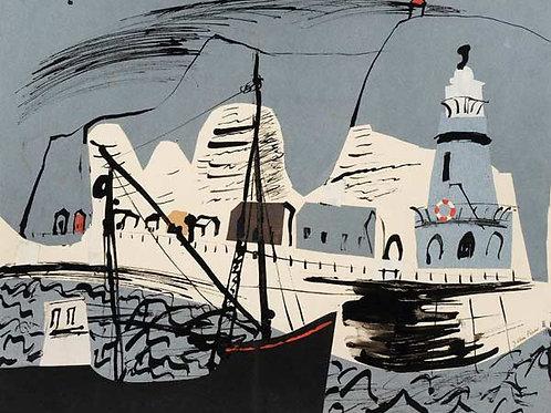 Newhaven Harbour Art Print