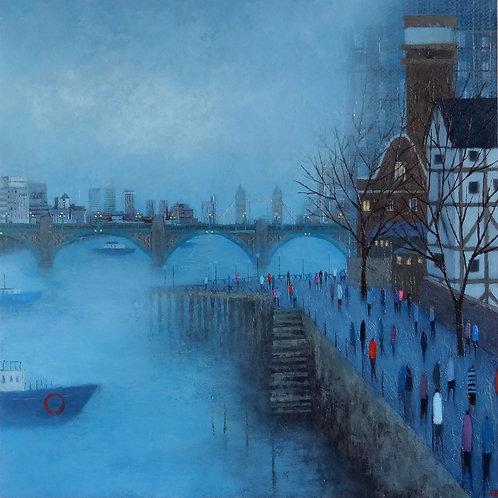 Bridges In The Mist Print by Emma Brownjohn