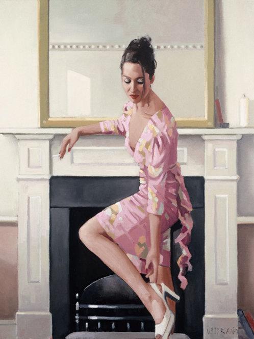 Model In Westwood Print Jack Vettriano