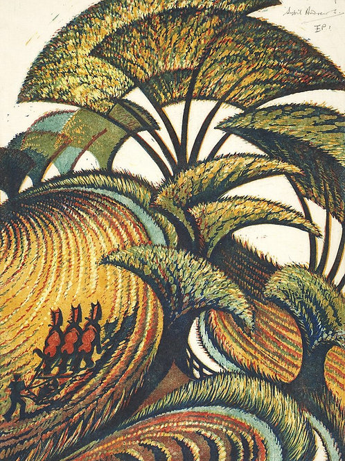 Fall of the Leaf Print Sybil Andrews