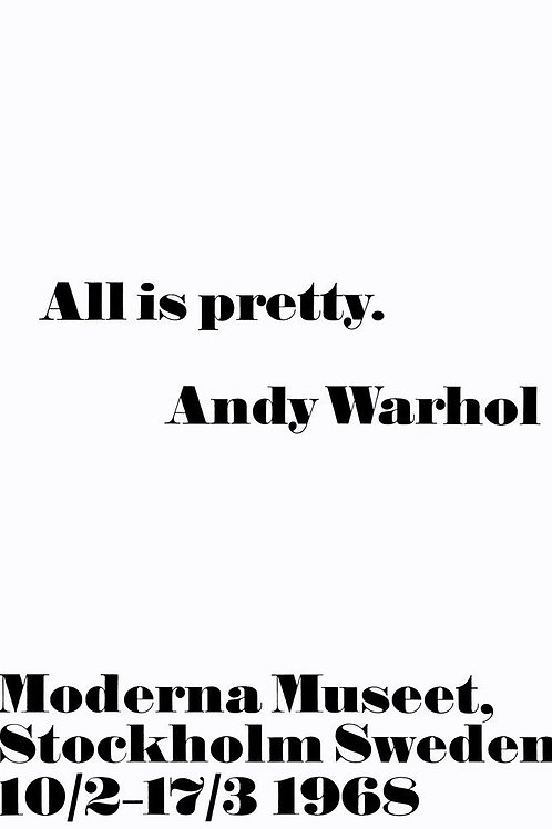 Warhol All Is Pretty Poster