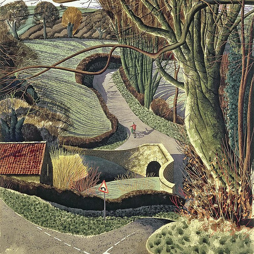 Simon Palmer Cycling Home Print