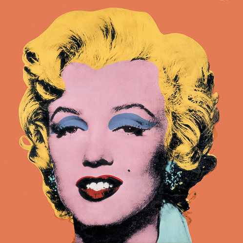 Orange Marilyn Print by Andy Warhol