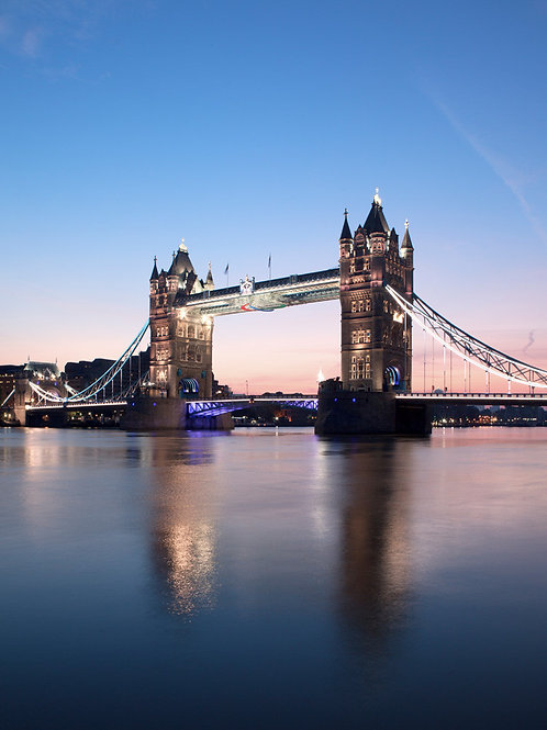 Tower Bridge At Dawn Canvas Print by Doug Chinnery